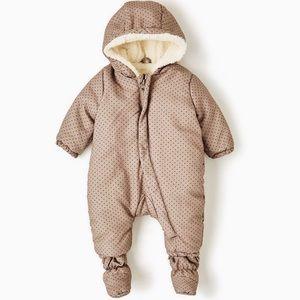 Zara baby luxury plush winter suit